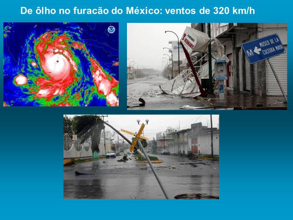 De ôlho no furacão do México: ventos de 320 km/h