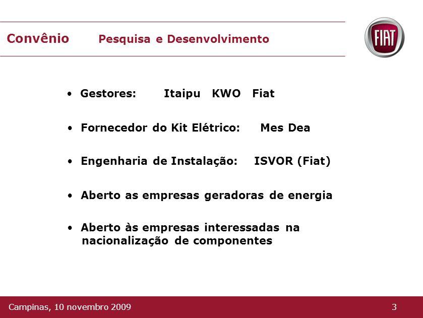 União de empresas Itaipu KWO Fiat 2Campinas, 10 novembro 2009