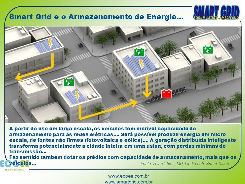 www.ecoee.com.br www.smartgrid.com.br A partir do uso em larga escala, os veículos tem incrível capacidade de armazenamento para as redes elétricas...