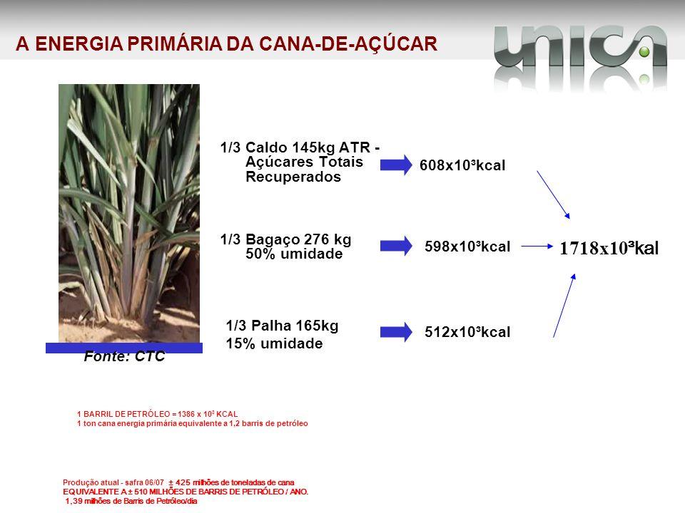 EVOLUÇÃO DA COLHEITA DE CANA CRUA Nota: Os valores de 2007 referem-se a área colhida até o mês de agosto.