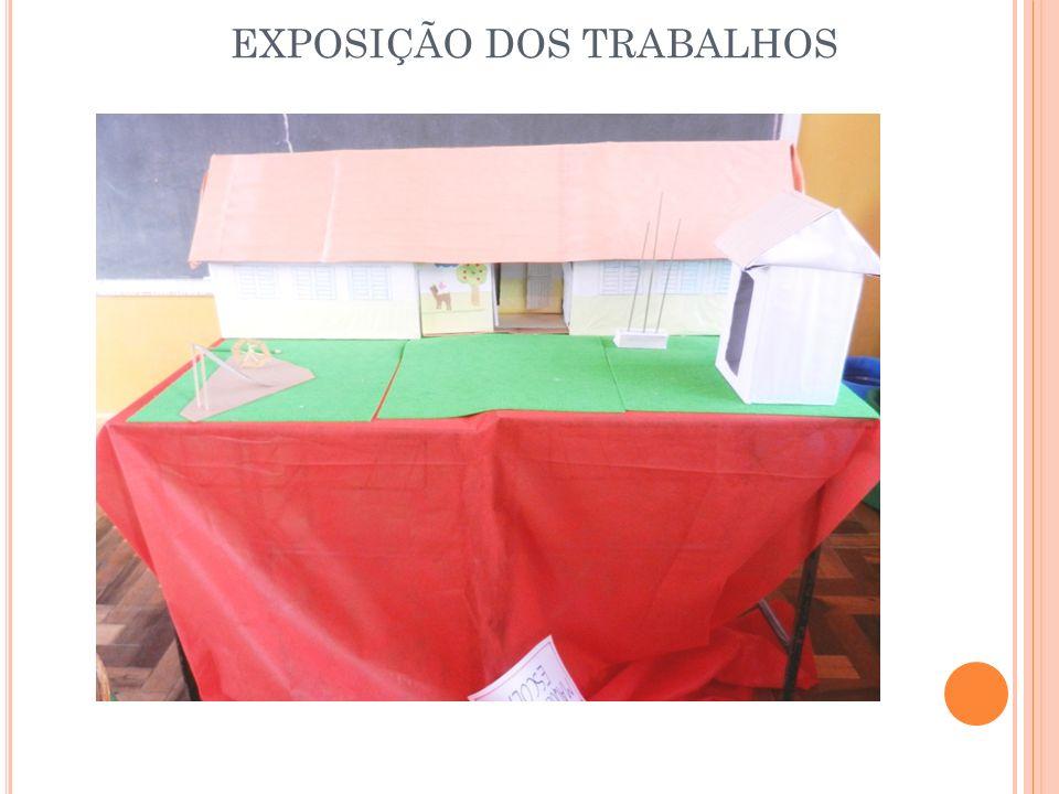 EXPOSIÇÃO DOS TRABALHOS