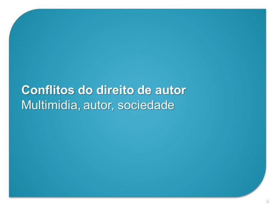 8 Conflitos do direito de autor Multimidia, autor, sociedade
