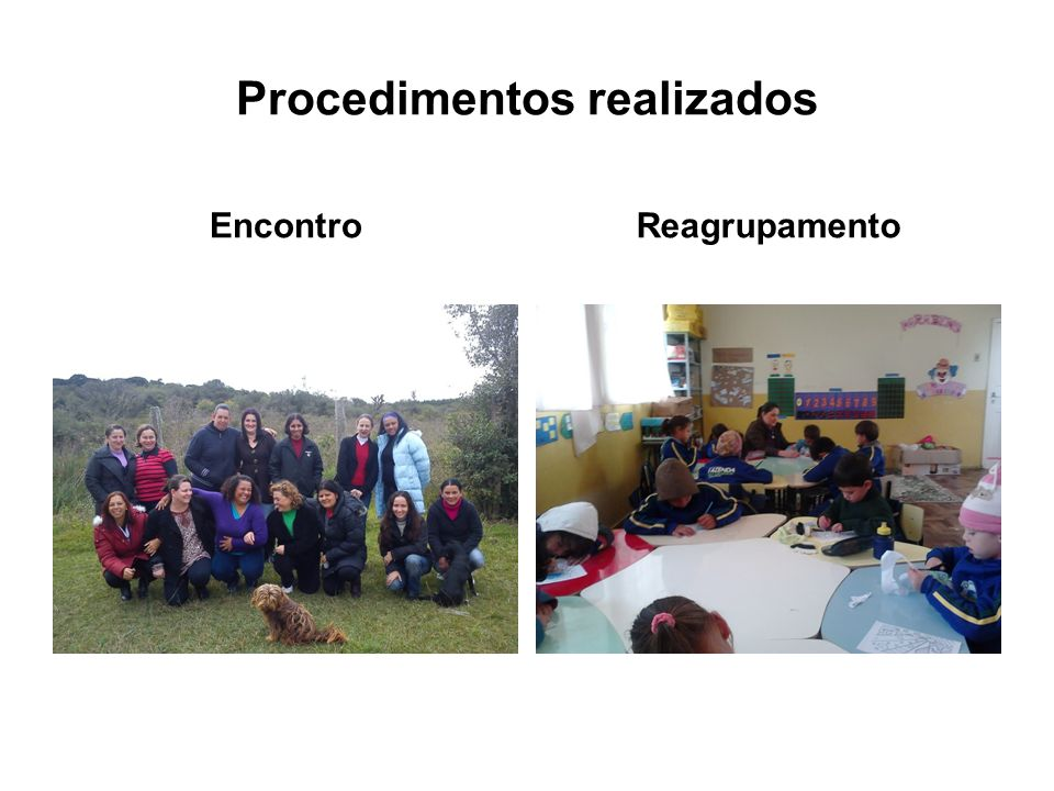 Procedimentos realizados EncontroReagrupamento