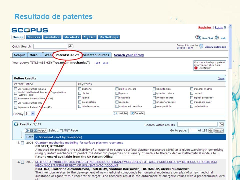 Resultado de patentes