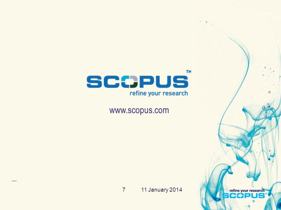 11 January 20147 www.scopus.com