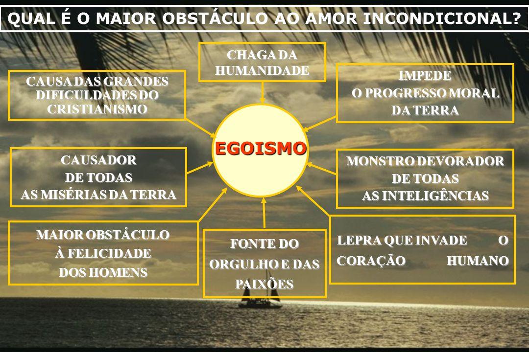 EGOISMO CAUSADOR DE TODAS AS MISÉRIAS DA TERRA CAUSA DAS GRANDES DIFICULDADES DO CRISTIANISMO IMPEDE O PROGRESSO MORAL DA TERRA MONSTRO DEVORADOR DE T
