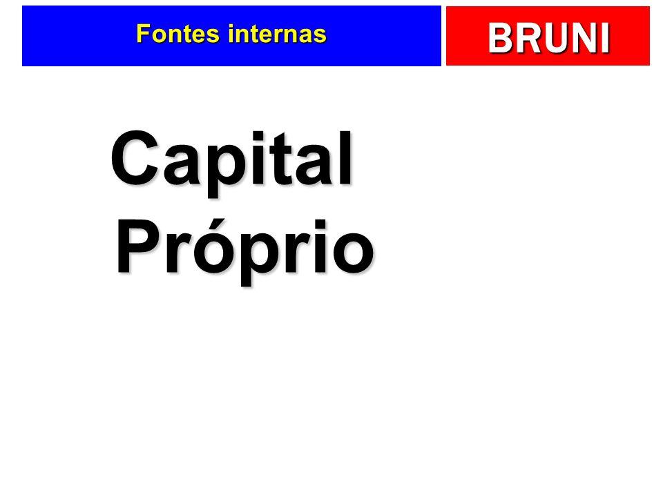 BRUNI Fontes internas Capital Próprio