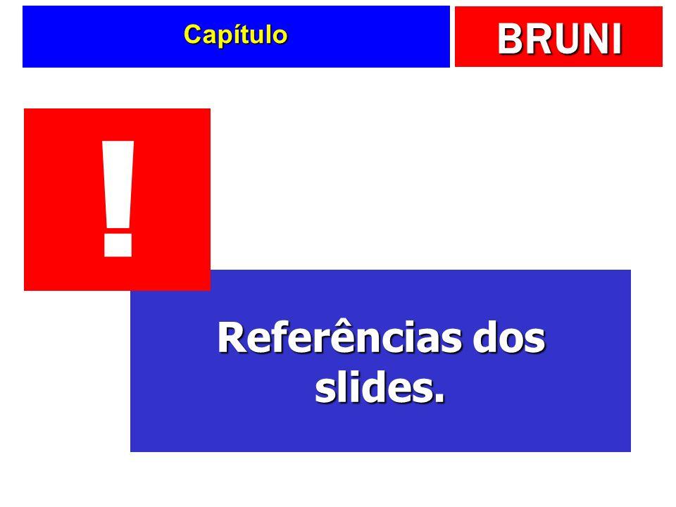 BRUNI Capítulo Referências dos slides. !