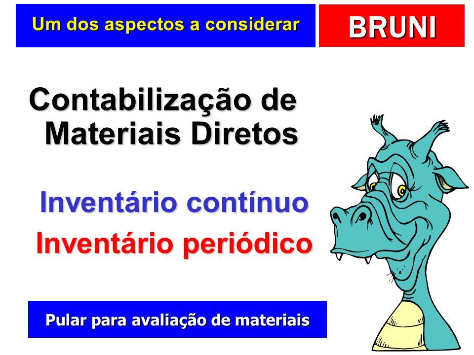 BRUNI Materiais diretos (MD) Recursos consumidos de forma direta na elaboração do produto ou na prestação do serviço Recursos consumidos de forma dire