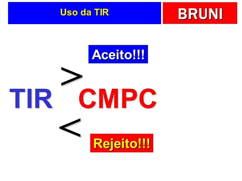 BRUNI Uso da TIR TIRCMPC > < Aceito!!! Rejeito!!!