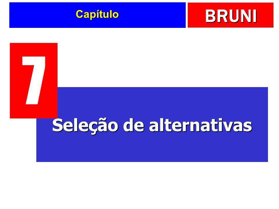 BRUNI Capítulo Seleção de alternativas 7