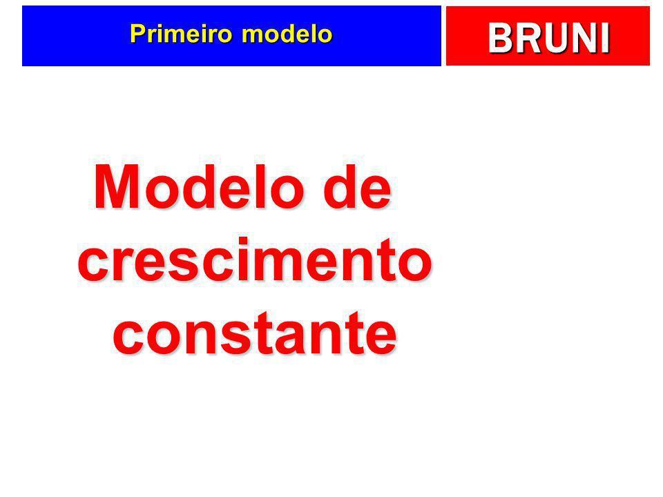 BRUNI Primeiro modelo Modelo de crescimento constante