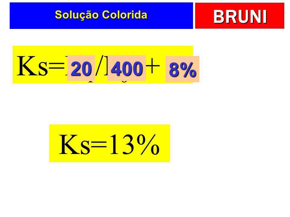 BRUNI Solução Colorida Ks=D 1 /P 0 + g 20400 8% Ks=13%