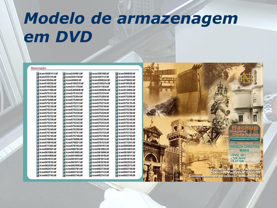 Modelo de armazenagem em DVD