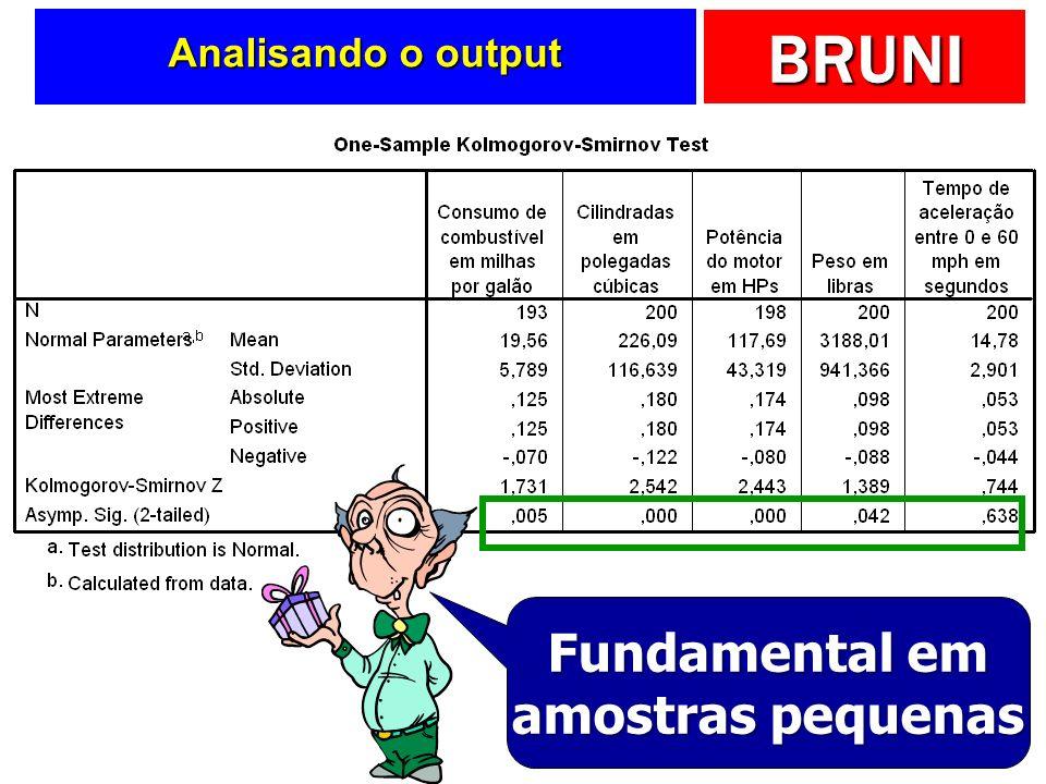 BRUNI Analisando o output Fundamental em amostras pequenas