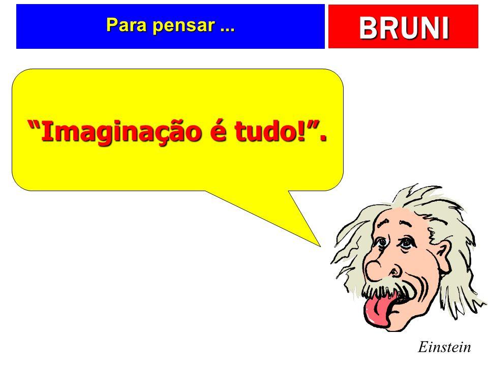 BRUNI Para pensar... Einstein Imaginação é tudo!.