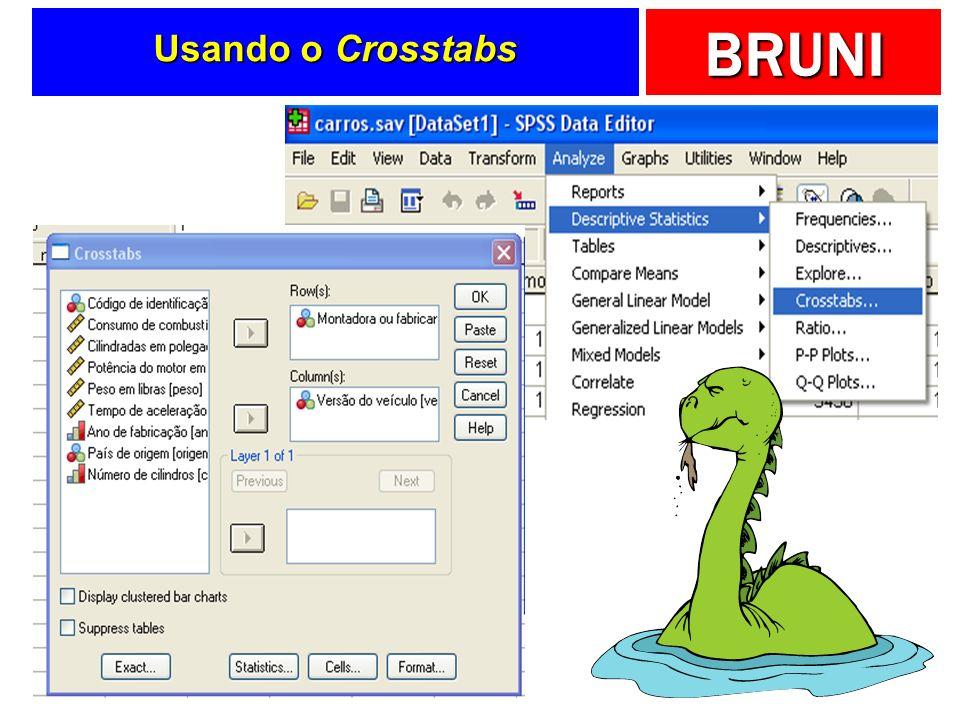 BRUNI Usando o Crosstabs