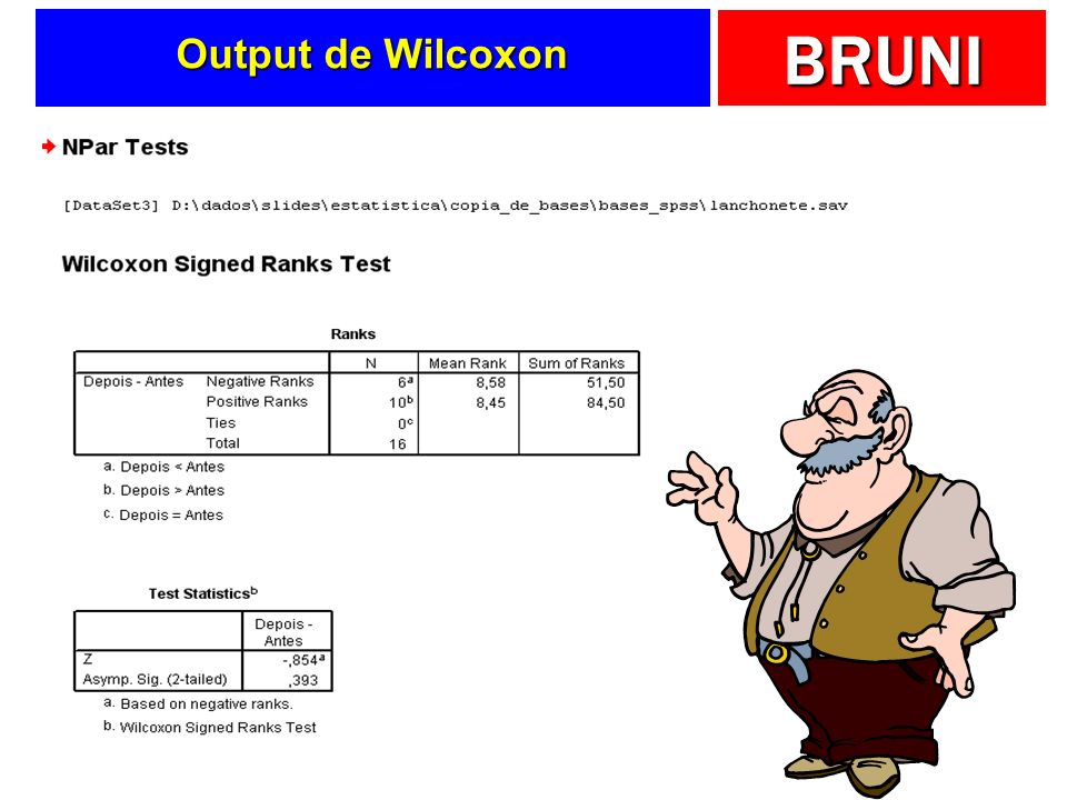 BRUNI Output de Wilcoxon