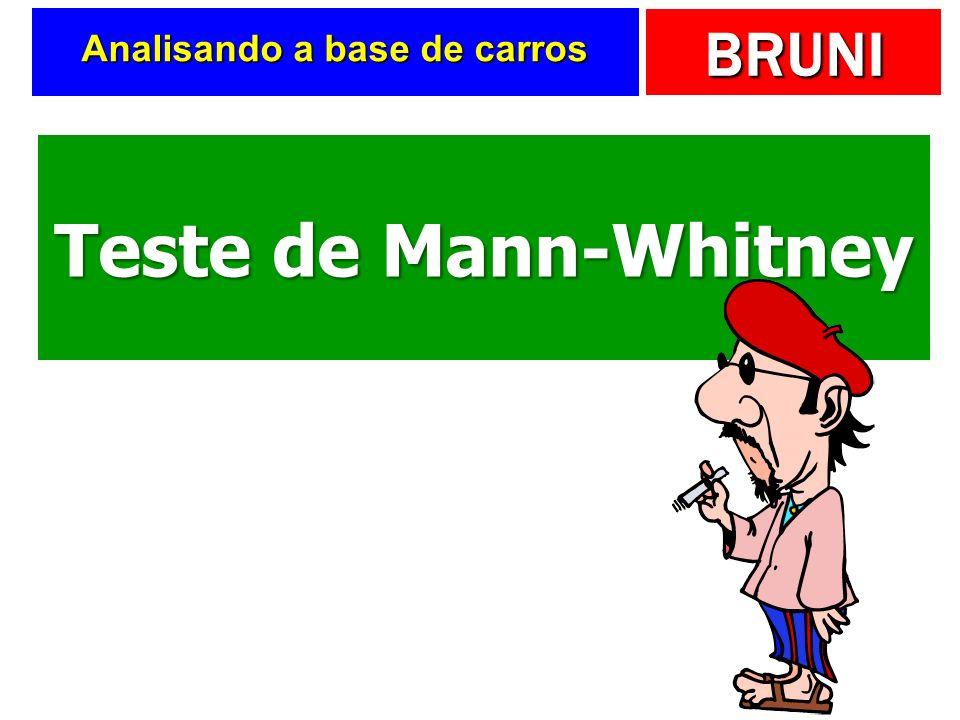 BRUNI Analisando a base de carros Teste de Mann-Whitney