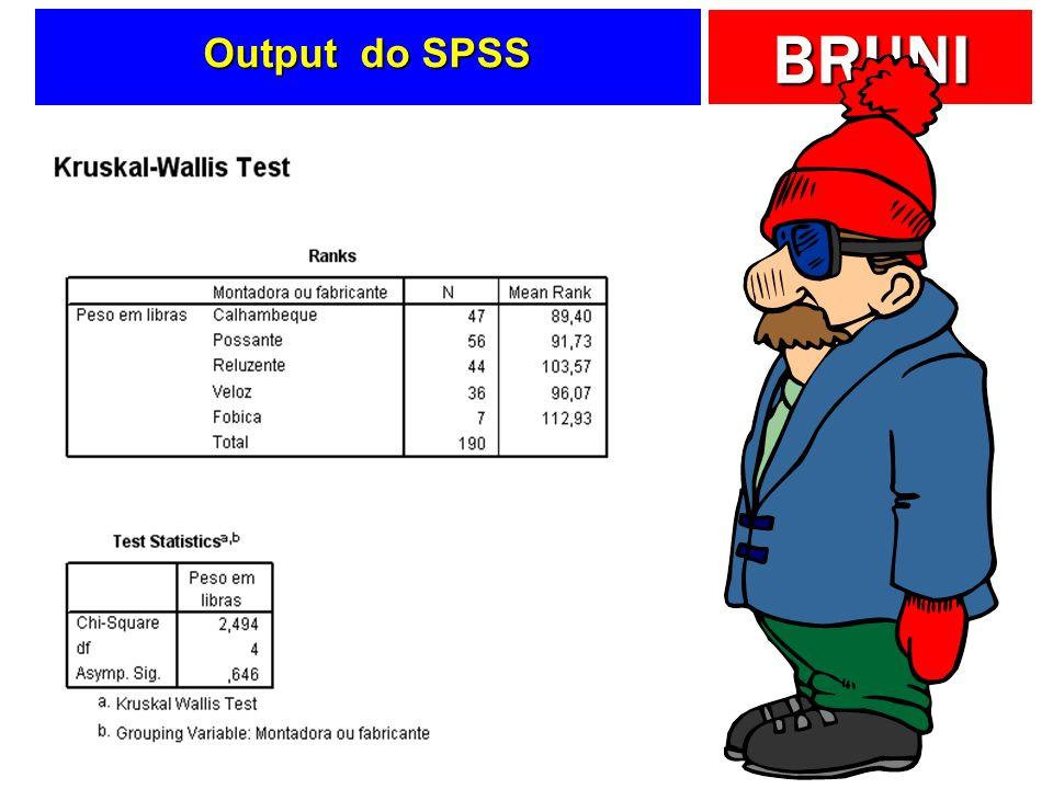 BRUNI Output do SPSS