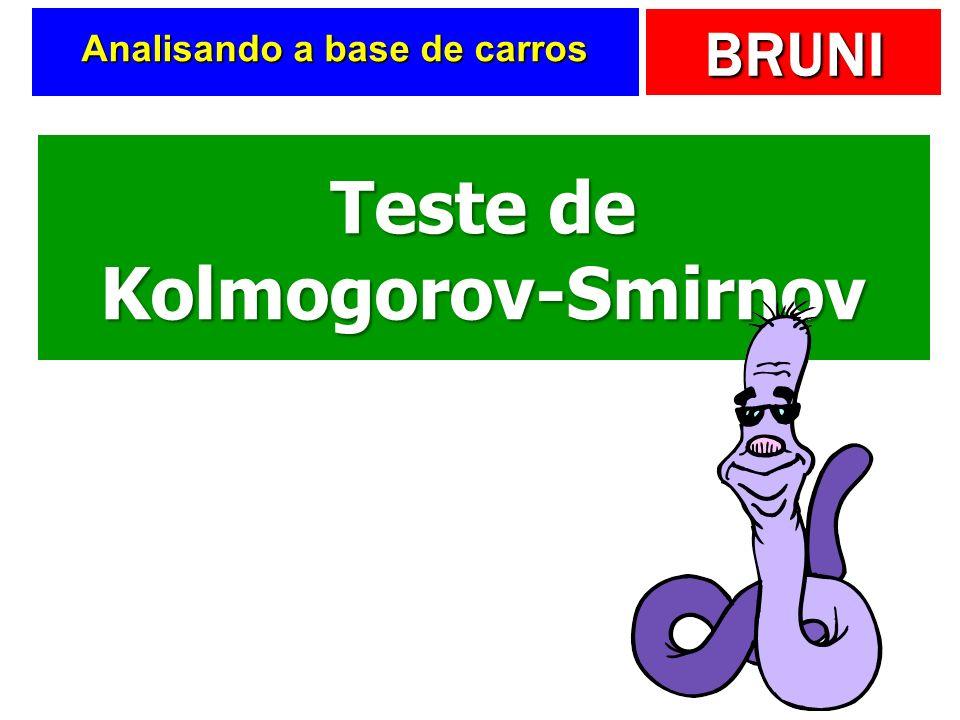 BRUNI Analisando a base de carros Teste de Kolmogorov-Smirnov