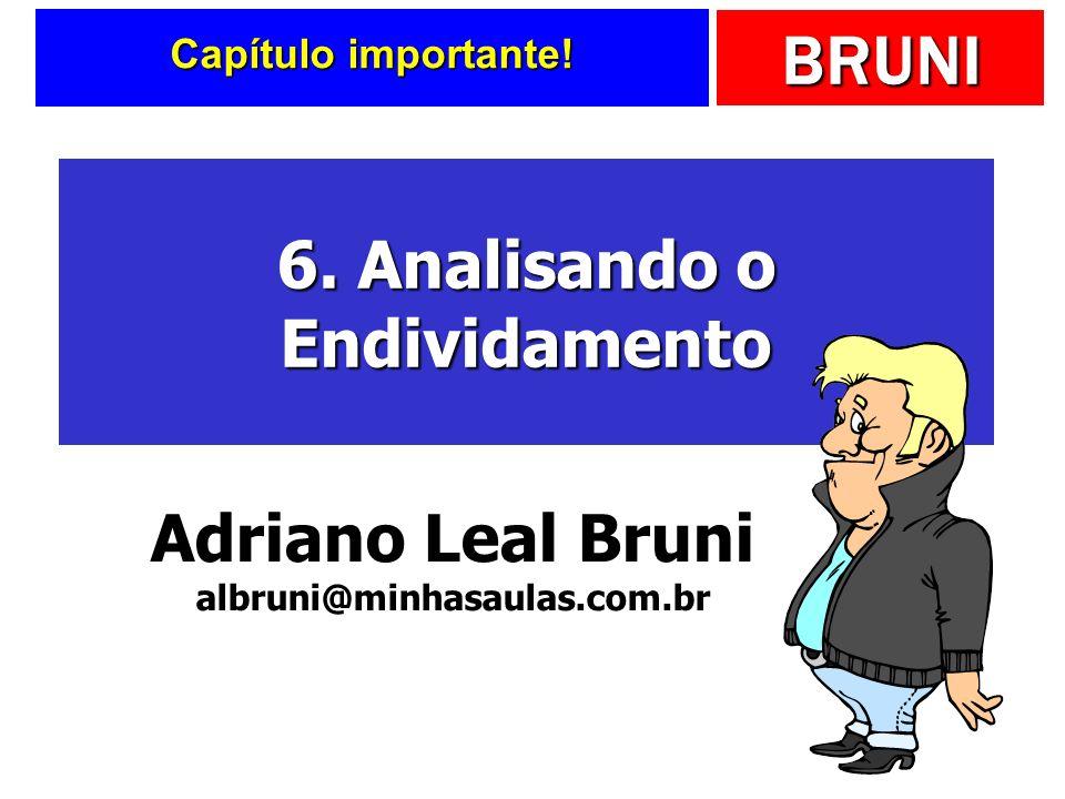 BRUNI Capítulo importante! 6. Analisando o Endividamento Adriano Leal Bruni albruni@minhasaulas.com.br