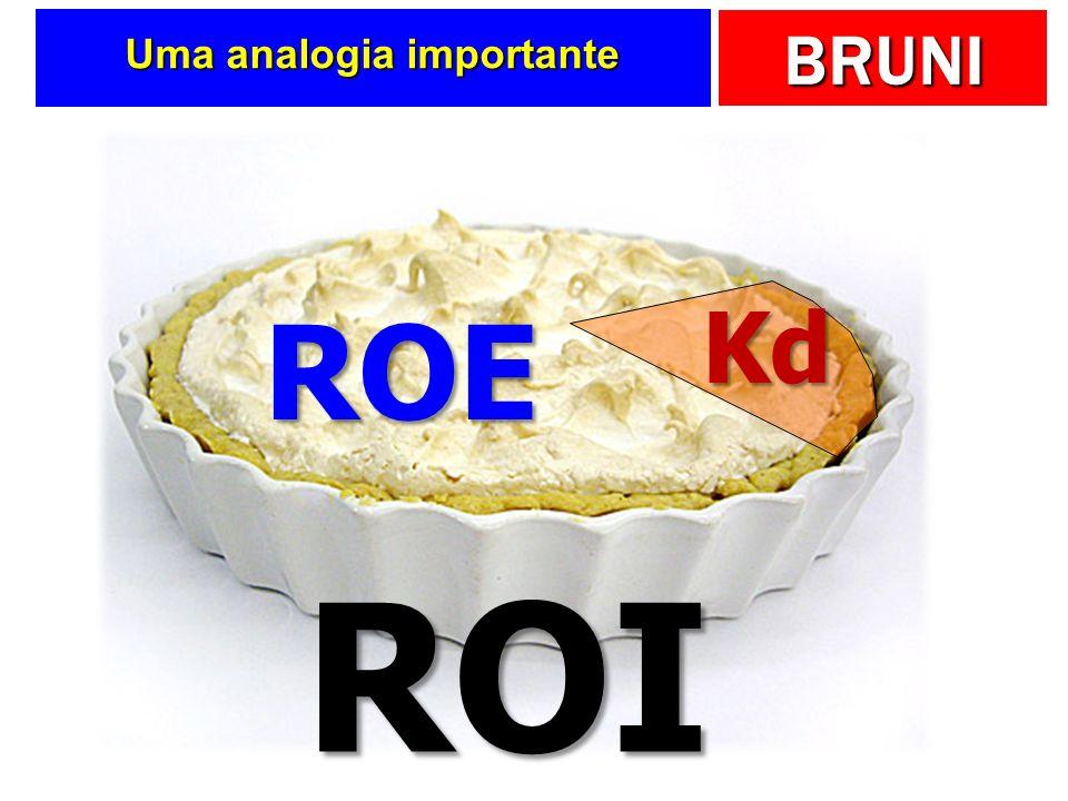 BRUNI Uma analogia importante ROI Kd ROE