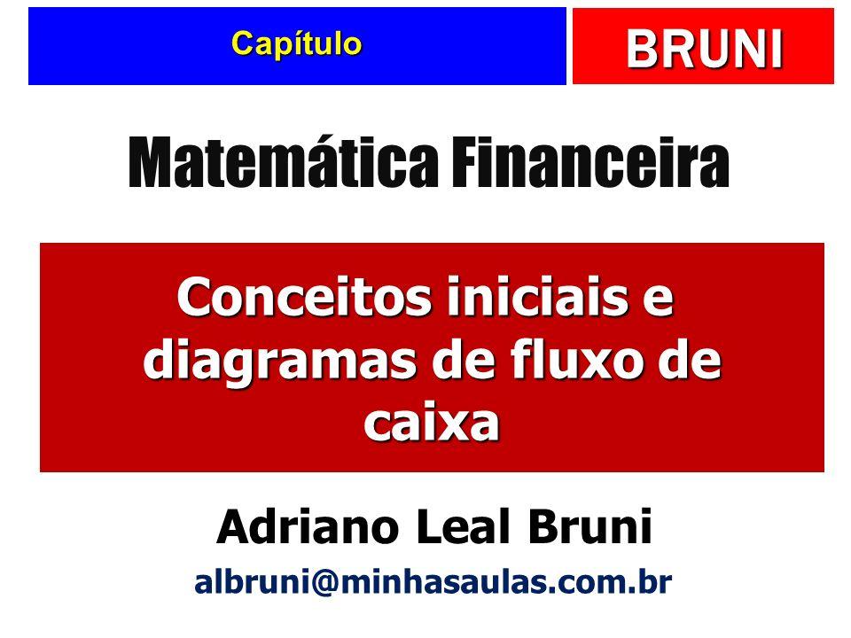 BRUNI Capítulo Conceitos iniciais e diagramas de fluxo de caixa Matemática Financeira Adriano Leal Bruni albruni@minhasaulas.com.br