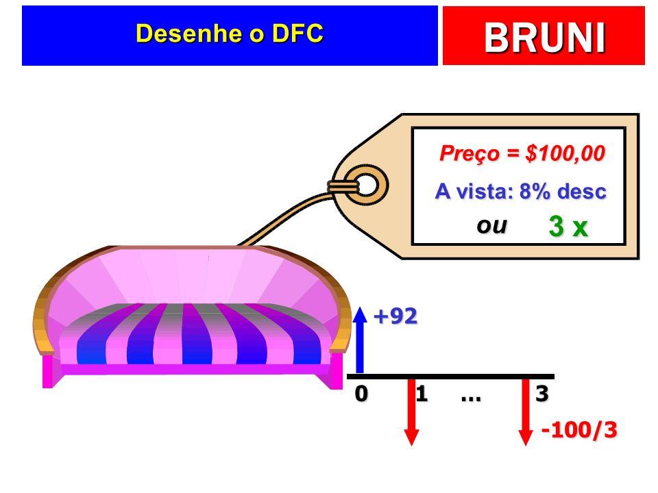 BRUNI Desenhe o DFC A vista: 8% desc 3 x ou +92 …013 -100/3 Preço = $100,00