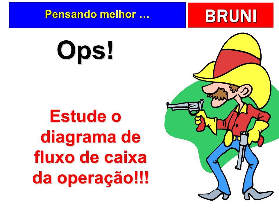 BRUNI Pensando melhor … Ops! Estude o diagrama de fluxo de caixa da operação!!!