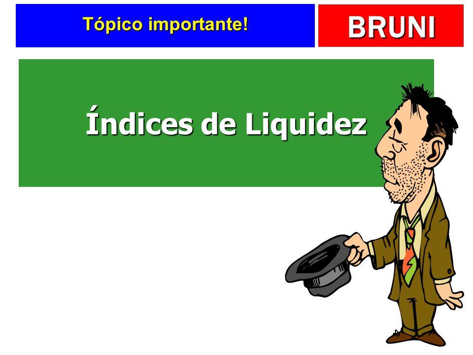 BRUNI Tópico importante! Índices de Liquidez