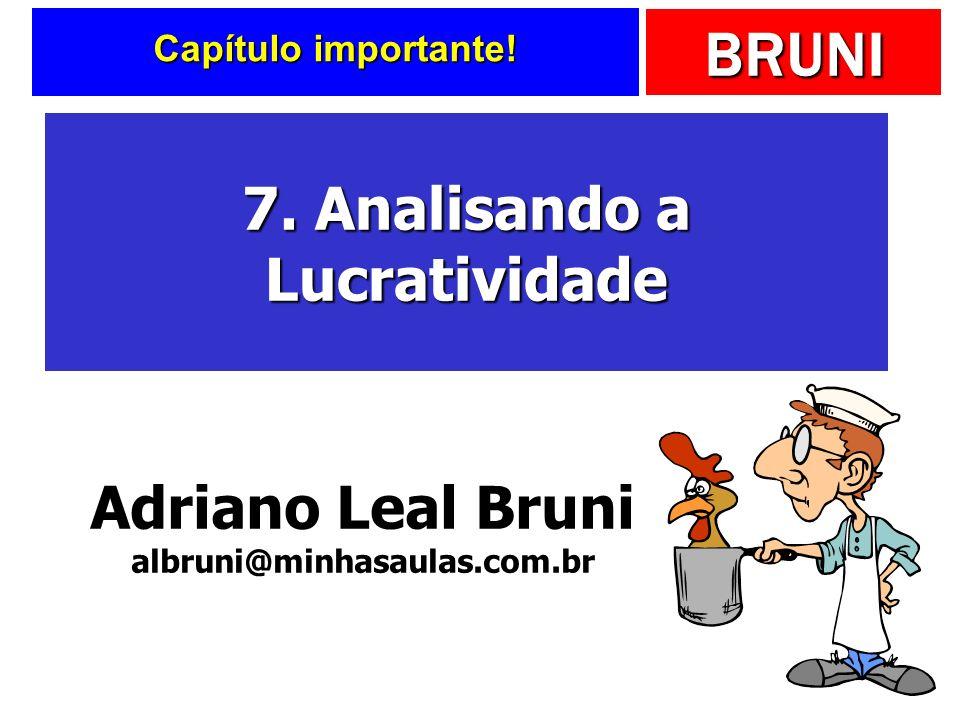 BRUNI Capítulo importante! 7. Analisando a Lucratividade Adriano Leal Bruni albruni@minhasaulas.com.br