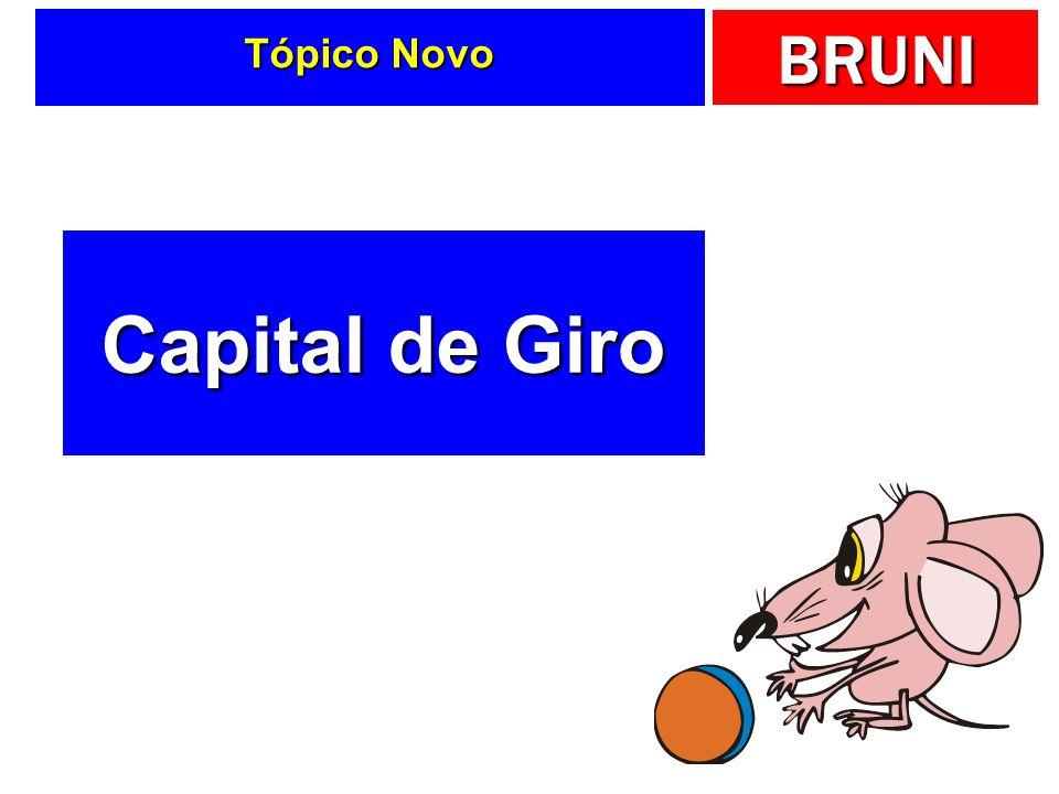 BRUNI Tópico Novo Capital de Giro