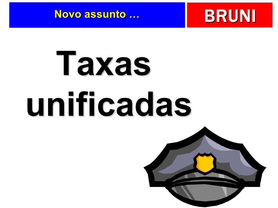 BRUNI Novo assunto … Taxas unificadas