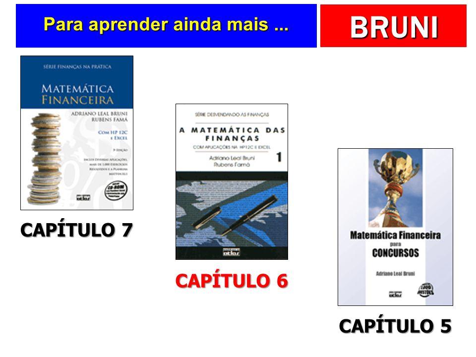 BRUNI Para aprender ainda mais... CAPÍTULO 7 CAPÍTULO 6 CAPÍTULO 5