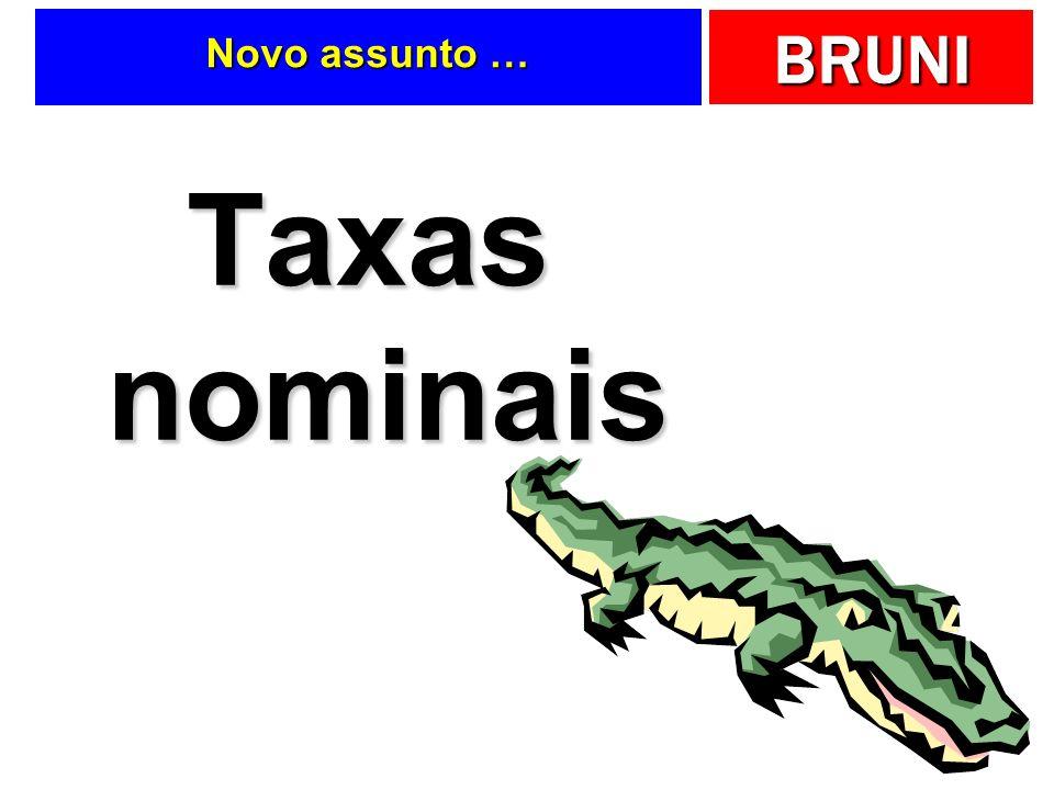 BRUNI Novo assunto … Taxas nominais