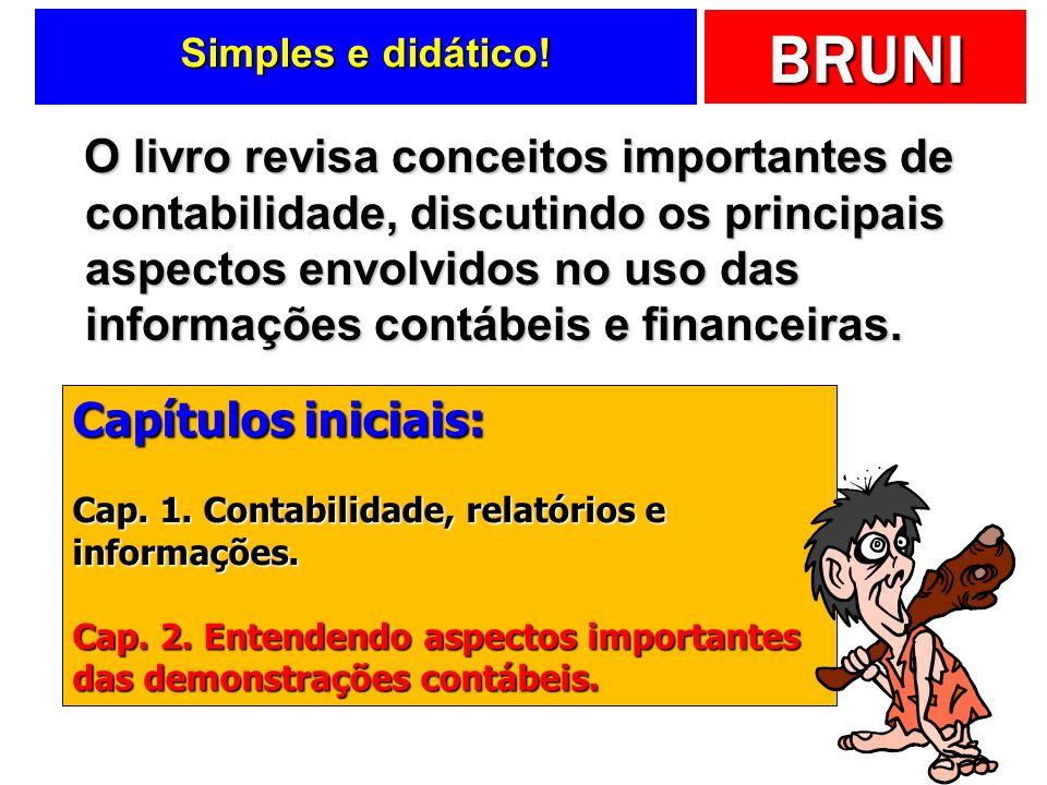 BRUNI Visão interdisciplinar Tece considerações sobre as diferentes visões das informações contábeis e financeiras.