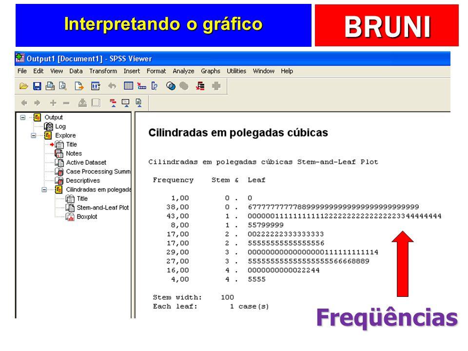 BRUNI Interpretando o gráfico Freqüências