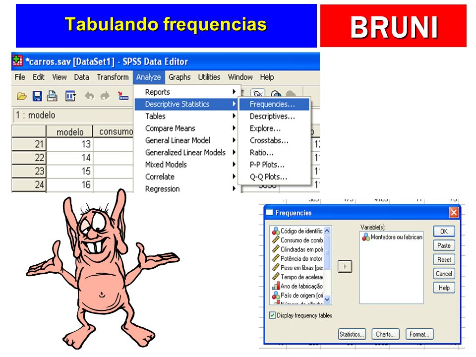 BRUNI Tabulando frequencias