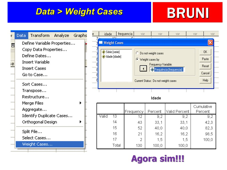 BRUNI Data > Weight Cases Agora sim!!!