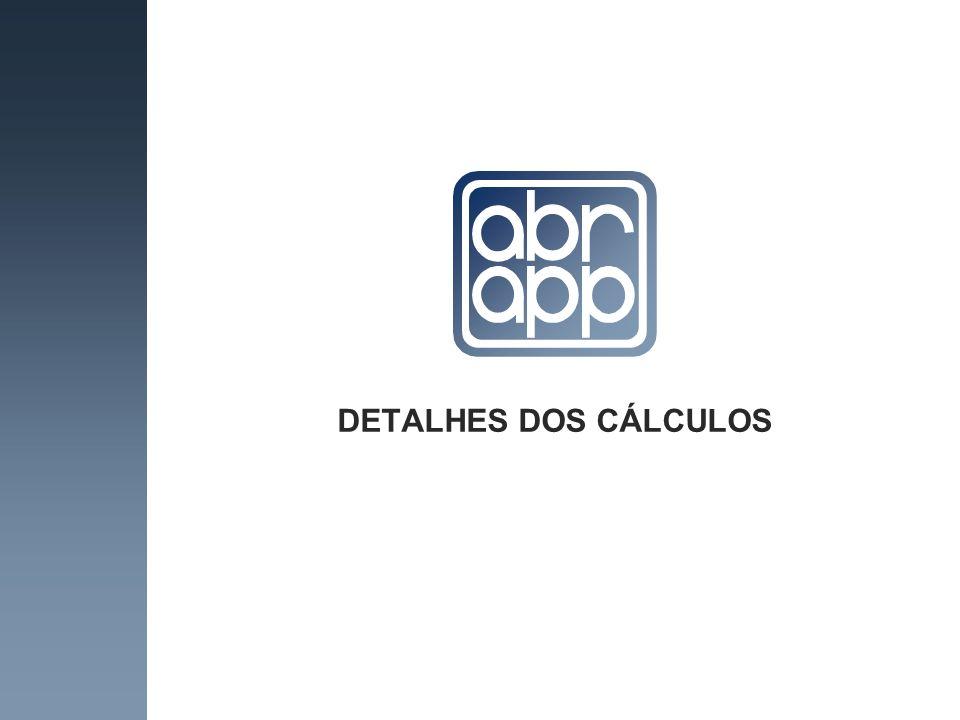 DETALHES DOS CÁLCULOS