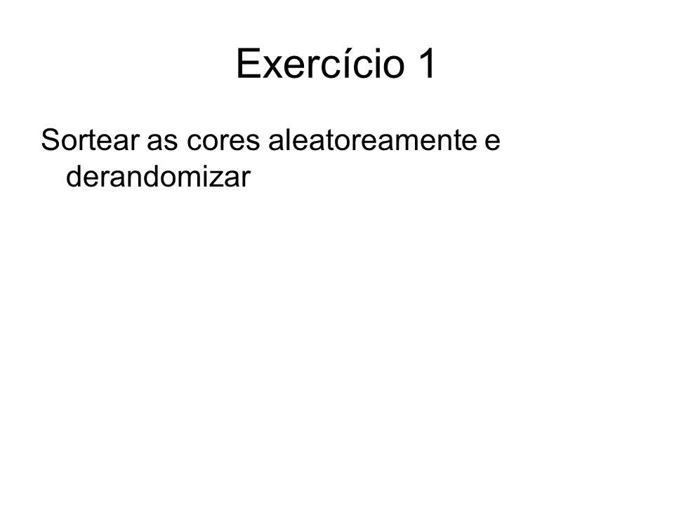 Exercício 13 Pr[X1-X2> c n 1/2 ]= Pr[X 1 > n+(c n 1/2 )/2] X1=X 1,1 +X 1,2 +…+X 1,2n X 1,i = 1 se a i-ésima bola cai no balde 1 e X 1,i = 0, caso contrário Usando o bound de Chernof …
