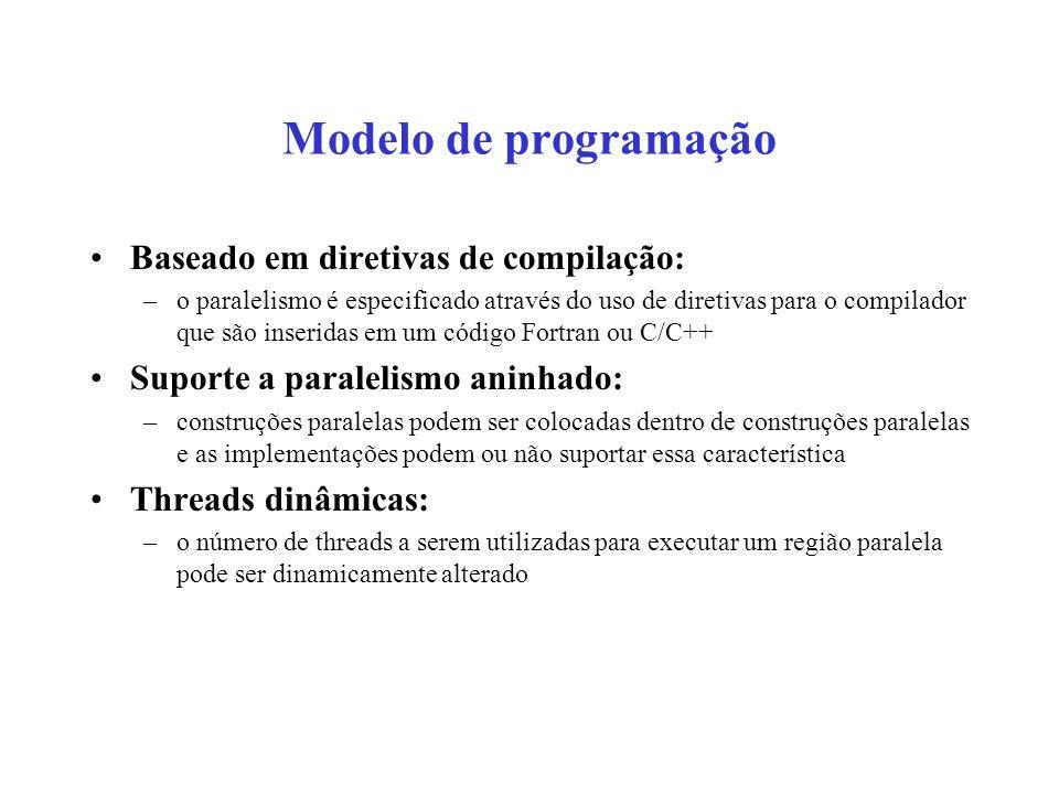 Exemplo de estrutura de código #include main ( ) { int var1, var2, var3; Código serial.