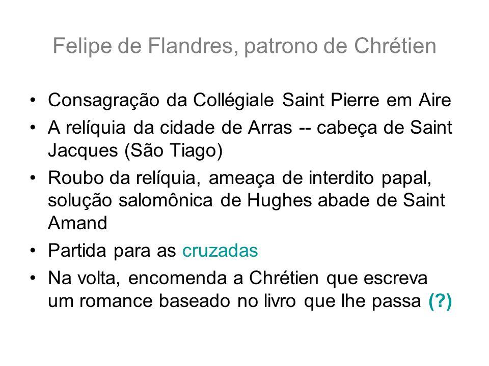 Felipe de Flandres, patrono de Chrétien Consagração da Collégiale Saint Pierre em Aire A relíquia da cidade de Arras -- cabeça de Saint Jacques (São T