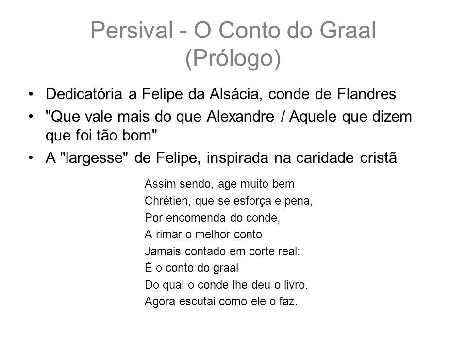 Persival - O Conto do Graal (Prólogo) Dedicatória a Felipe da Alsácia, conde de Flandres