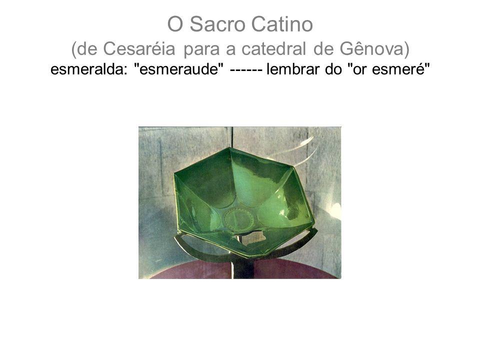 O Sacro Catino (de Cesaréia para a catedral de Gênova) esmeralda: