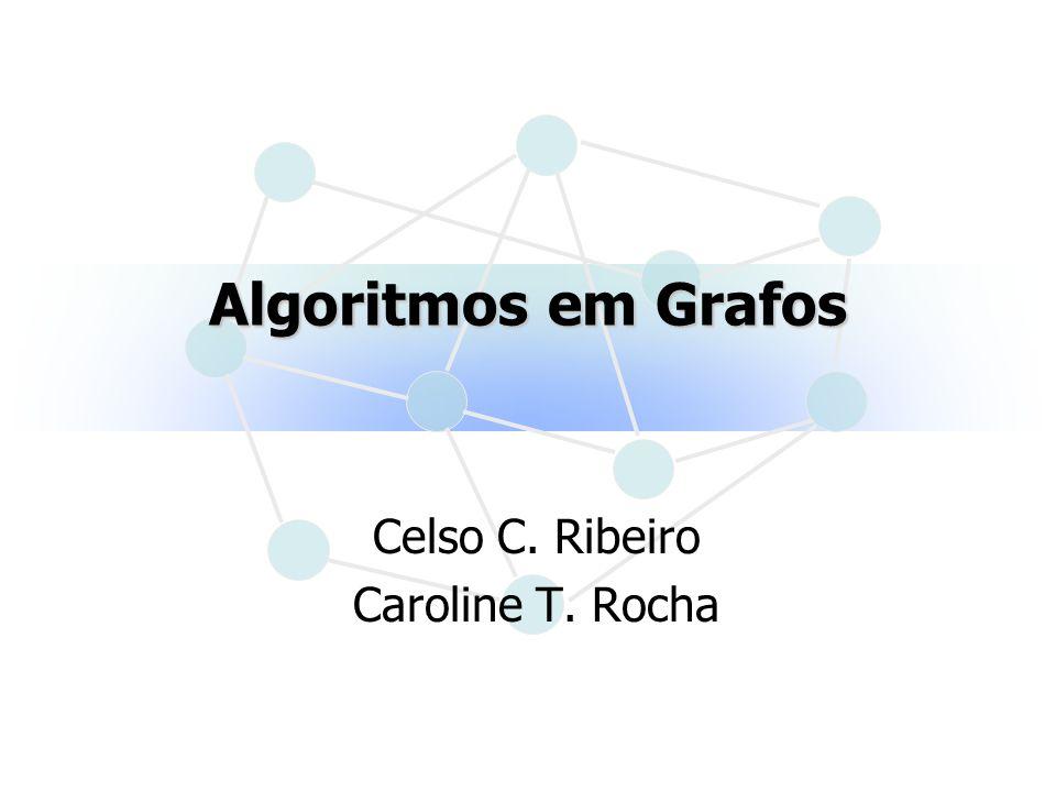 12Algoritmos em Grafos Problema do Fluxo Máximo Rotulação inversa: x marcado (x) arco u = (y,x) f(u) > 0 y não marcado (y) = min { (x), f(u) } xy u (x) A(y) = u f(u) 0 u ROTULAR(f,,A,Y) Enquanto > 0 faça ALTERAR_FLUXOS(f,,A) ROTULAR(f,,A,Y) fim-enquanto