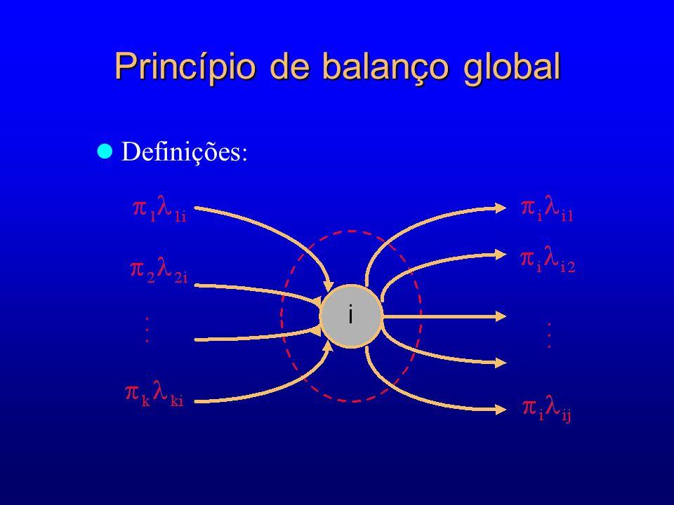 Princípio de balanço global... Definições :