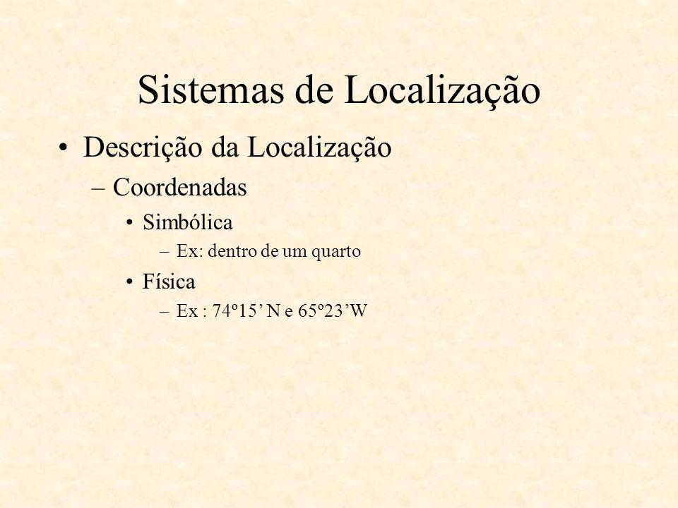 Location Stack Atividades – Activities –Categoriza informações de contexto em estados semânticos definindo a interpretação da aplicação sobre o mundo –Machine Learning