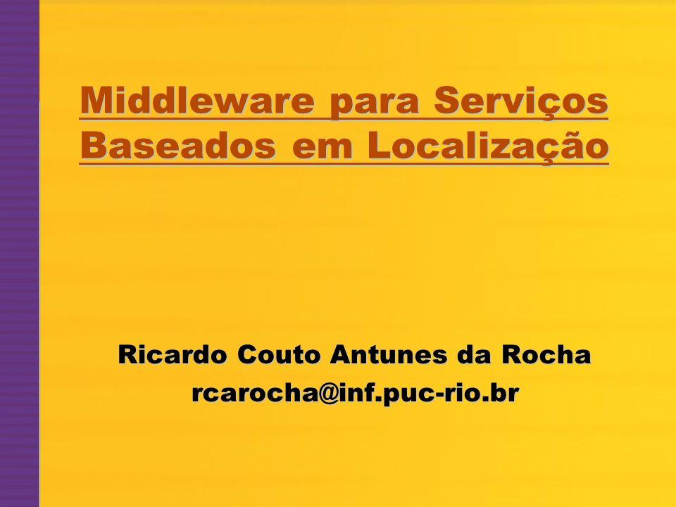 © 2004 – Ricardo Couto Antunes da Rocha1 Ricardo Couto Antunes da Rocha rcarocha@inf.puc-rio.br Middleware para Serviços Baseados em Localização